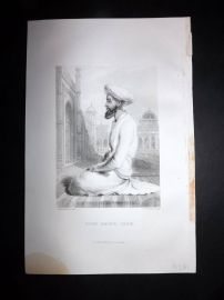 Nolan India C1880 Antique Portrait Print. Syud Amer Shah